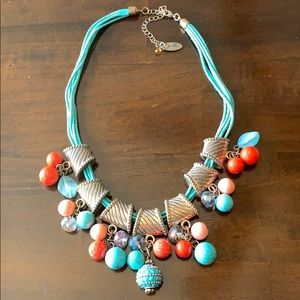 ❤️3/$20 Jules B Blue Red Pink Charm Necklace